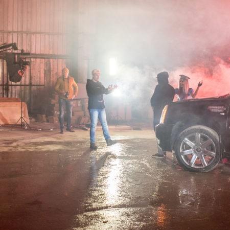Клипмейкер в работе - съемки музыкального клипа