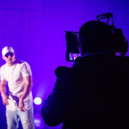 Съемка крупных планов в музыкальном клипе
