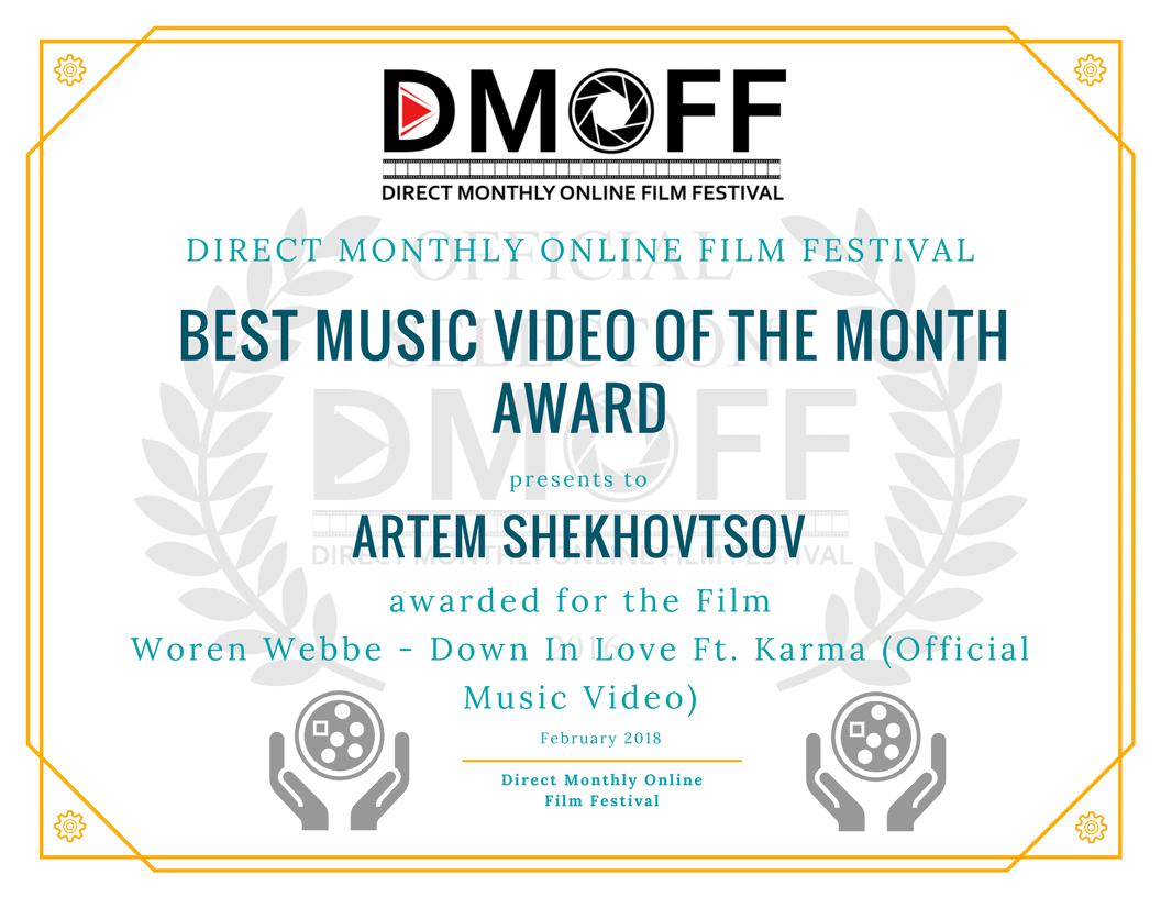 Победа на фестивале DMOFF - лучшее музыкальное видео