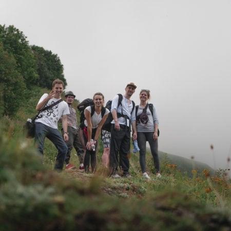 Преодолели подъем на высоту 2000 метров - съемки клипа в Сочи
