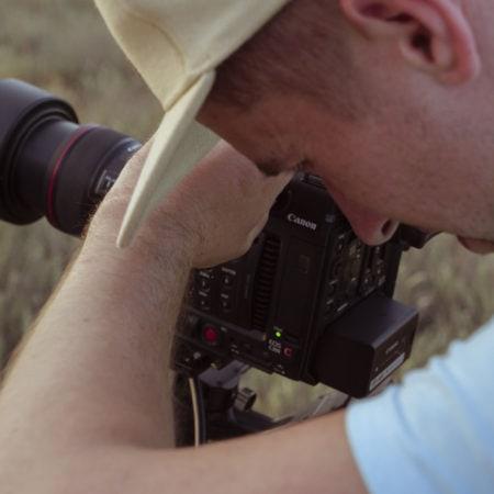 В процессе работы - съемки клипа Крым