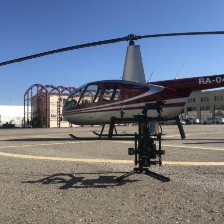 Съемка клипа - сцена с вертолетом